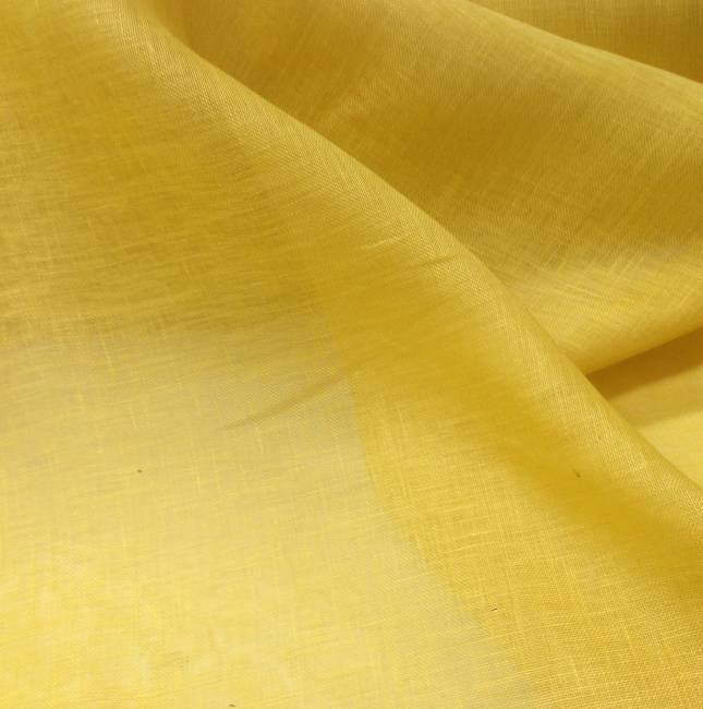 Tissu lin jaune transparent