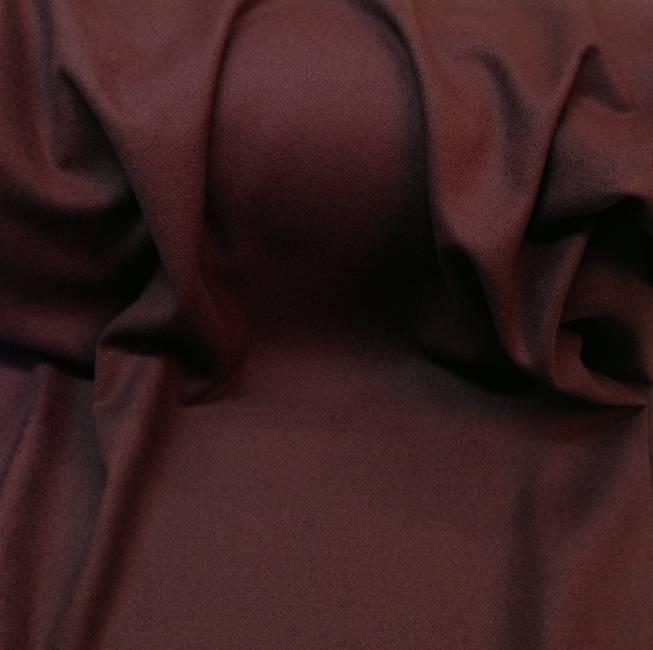 Rideau voilage tissu au metre drap de laine bordeaux