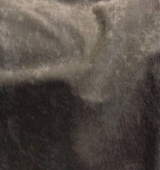 Tissu polyester brun effet peau de pêche