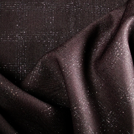 Tissu polyester laine à carreaux brillant