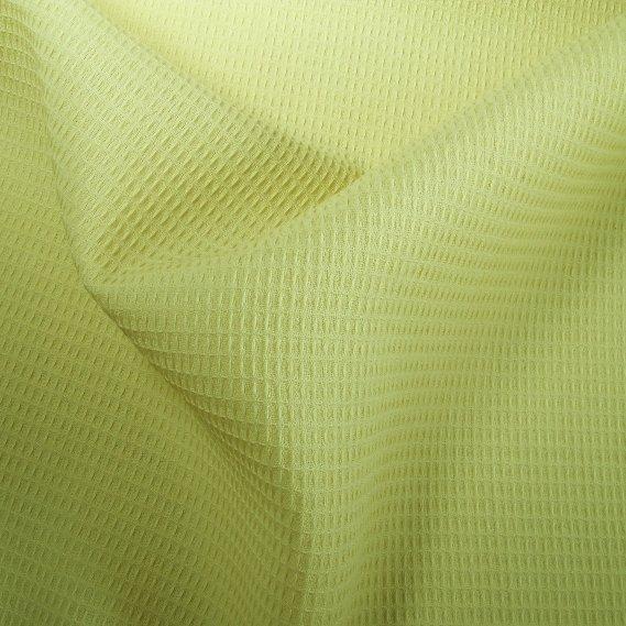 Tissu polyester laine nid d'abeilles jaune
