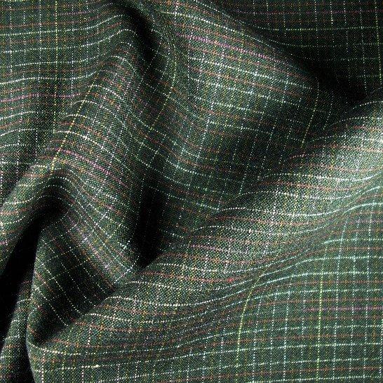 Tissu polyester laine à petit carreaux