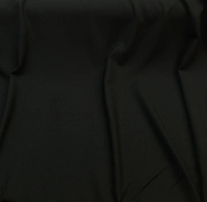 Tissu au metre polyester laine uni noir extensible