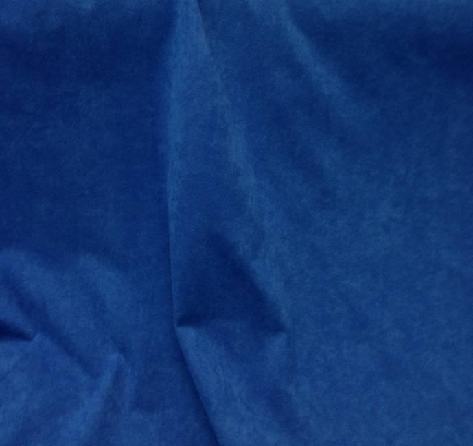 Tissu polyester bleu effet peau de pêche