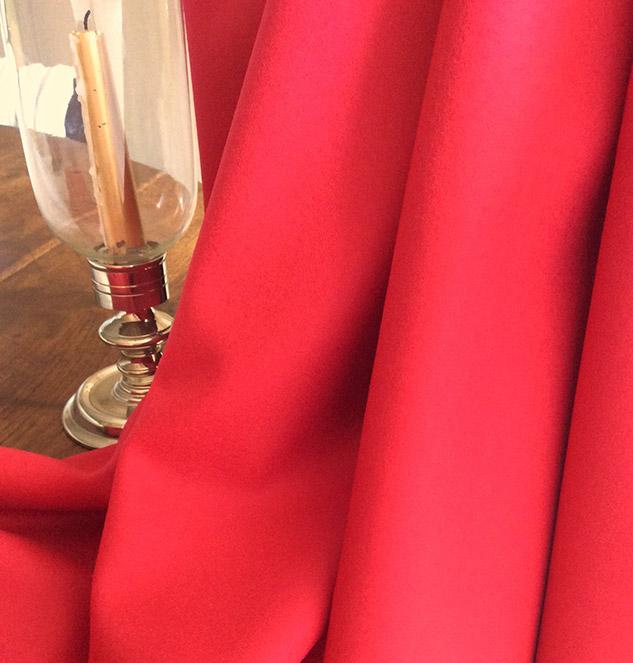 Tissu flanelle tissu rouge grenadine