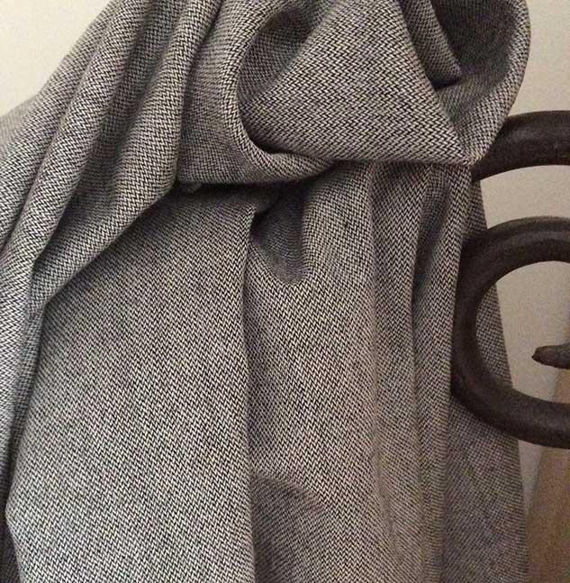 tissu chevron pour rideau