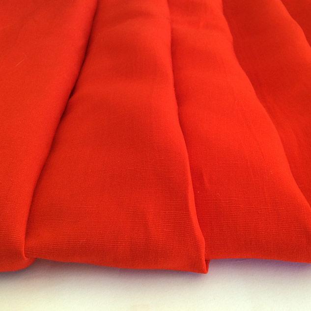 tissu viscose tissu rouge coquelicot Cardailhac