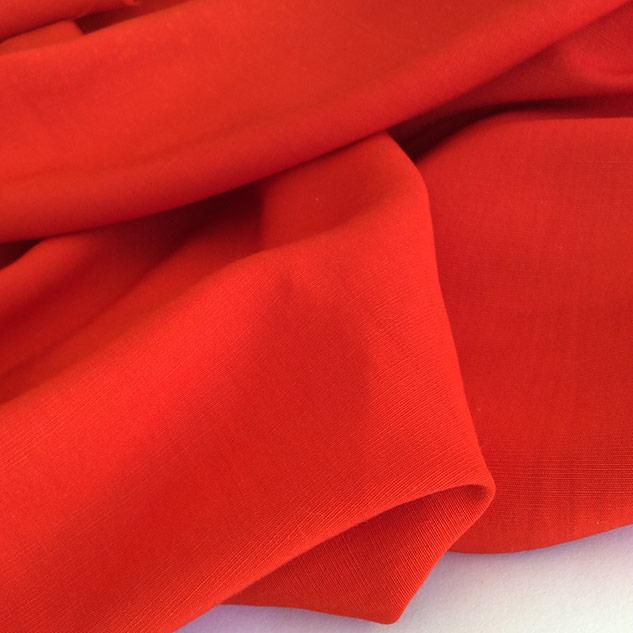tissu rouge coquelicot