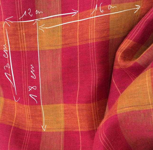 tissu tartan rapport couture