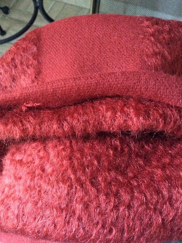 tissu d'ameublement rouge