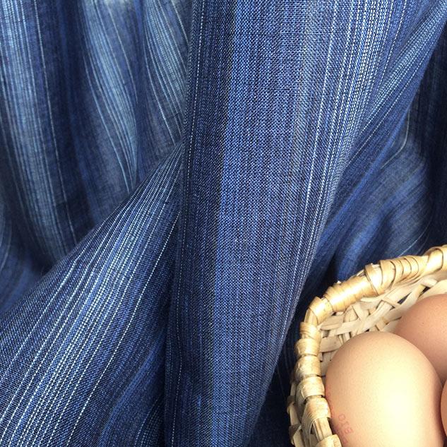 tissu rayé pour rideaux
