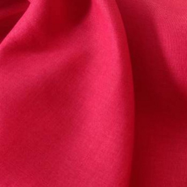 Tissu lin toile rouge