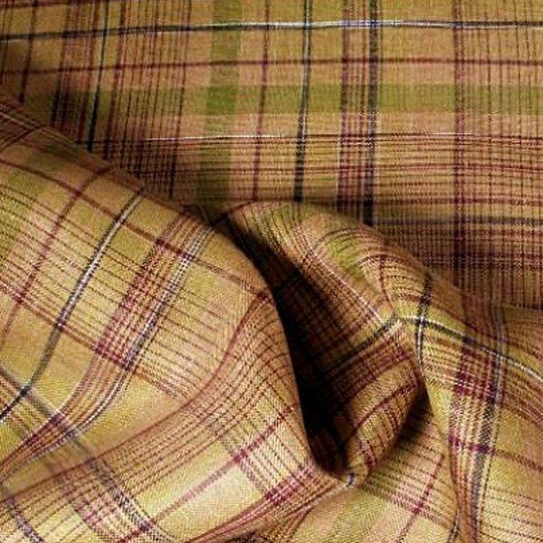 Tissus écossais en lin marron