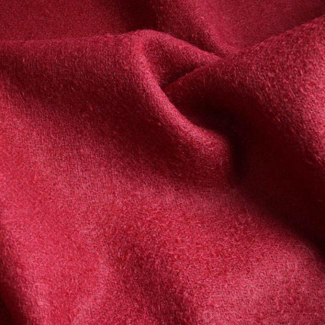 Drap de laine à poils mohair rouge
