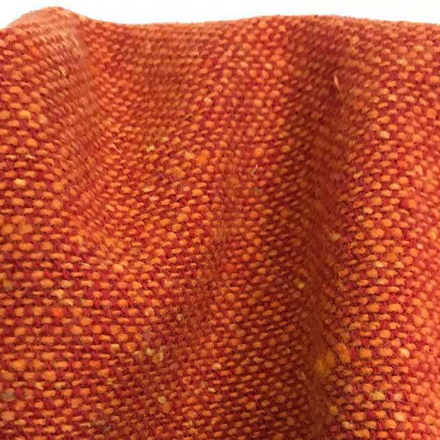 tissu fauteuil chiné orange