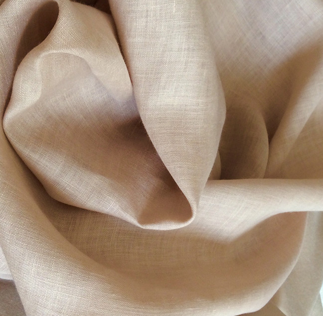 tissu beige rosé lin