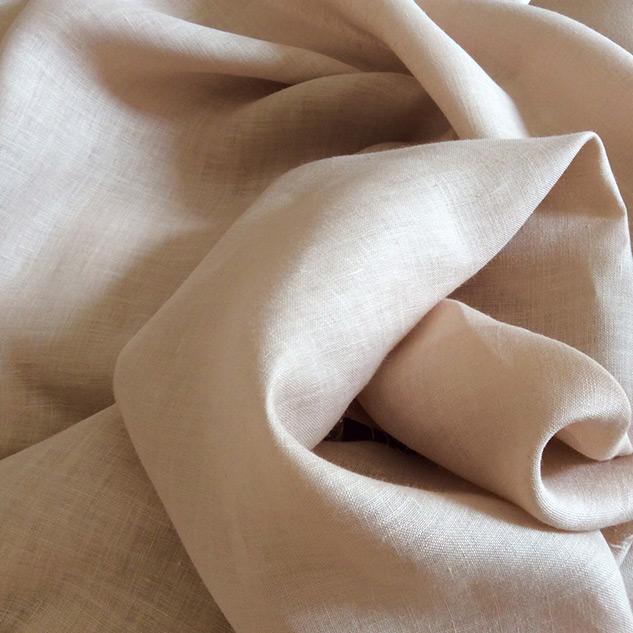 tissu beige en lin