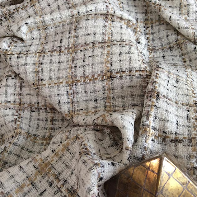 tweed au mètre écru Cardailhac
