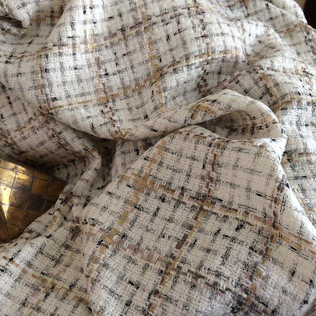 tweed pour veste écru Cardailhac