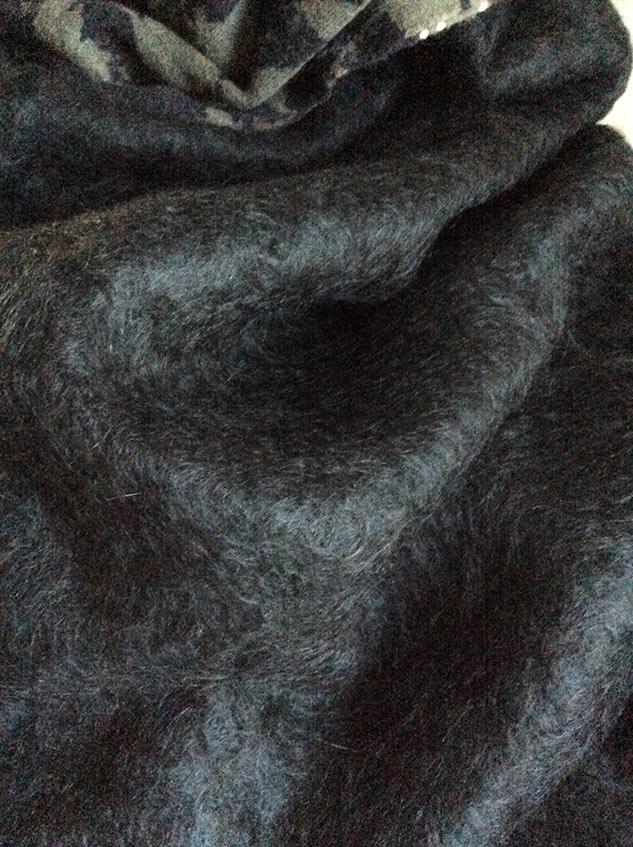 tissu mohair et laine