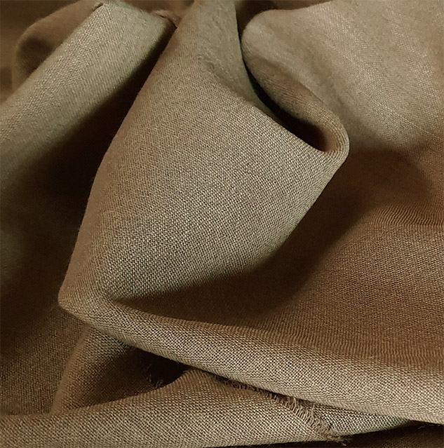 Tissu laine toile voilage beige