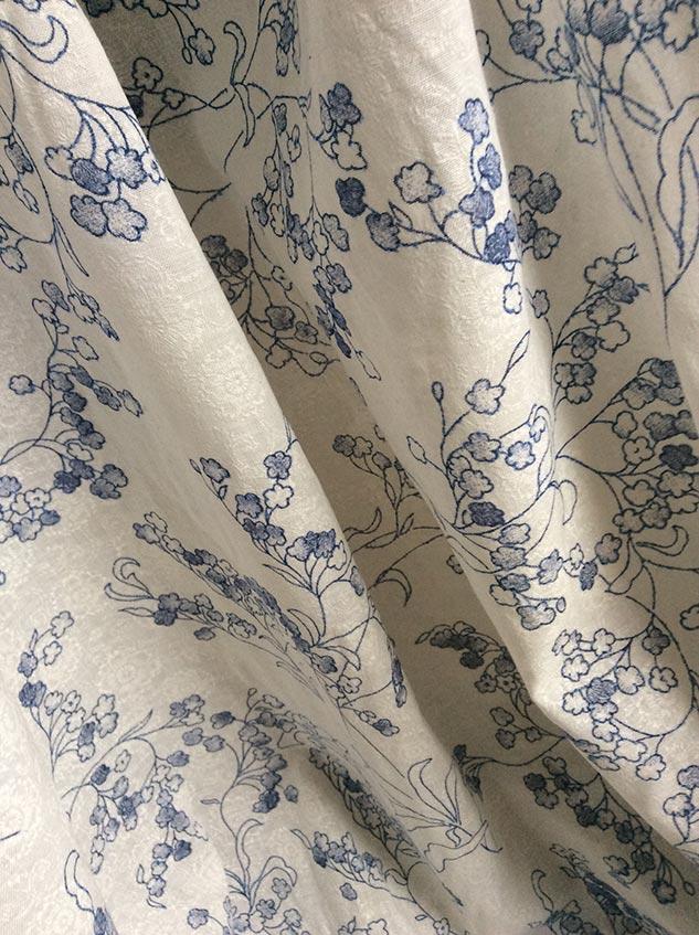voile de coton et polyester