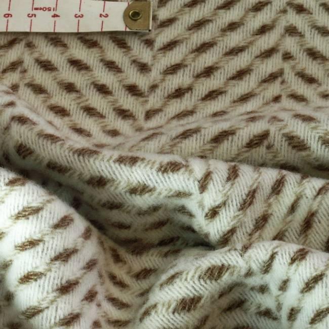 drap de laine velours chevron beige tissus au metre. Black Bedroom Furniture Sets. Home Design Ideas