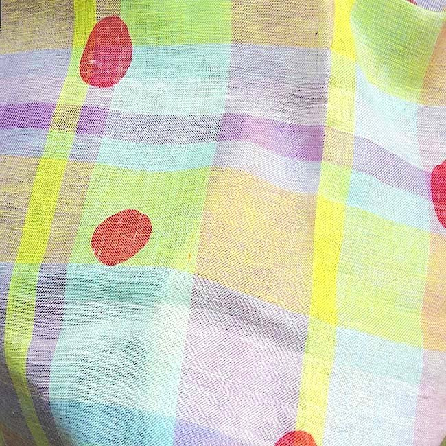 tissu lin cossais rose imprim japonais vente de tissus au metre. Black Bedroom Furniture Sets. Home Design Ideas