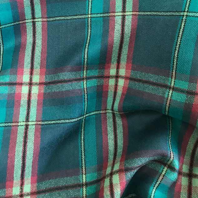 tartan tissus ameublement tissu turquoise flanelle de laine achat tissu. Black Bedroom Furniture Sets. Home Design Ideas