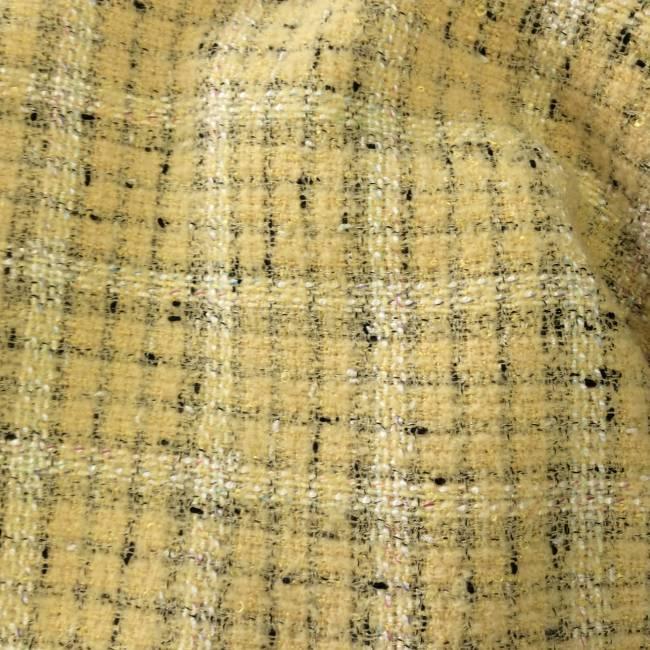 Tissu tweed jaune carreaux tissu ameublement tissus for Tissu a carreaux