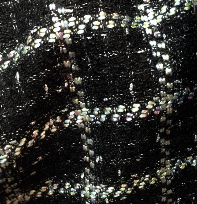 tissu tweed carreaux noir et blanc tissus au metre. Black Bedroom Furniture Sets. Home Design Ideas