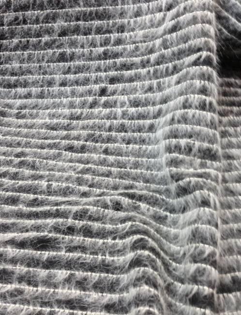 tissu mohair laine noir et blanc tissus au metre vente. Black Bedroom Furniture Sets. Home Design Ideas