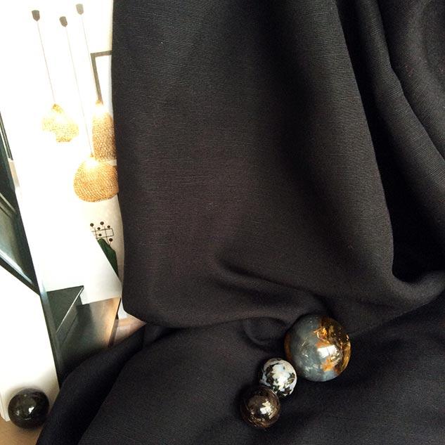 Tissus ameublement au metre tissu viscose tissu noir mercerie - Tissu ameublement au metre ...