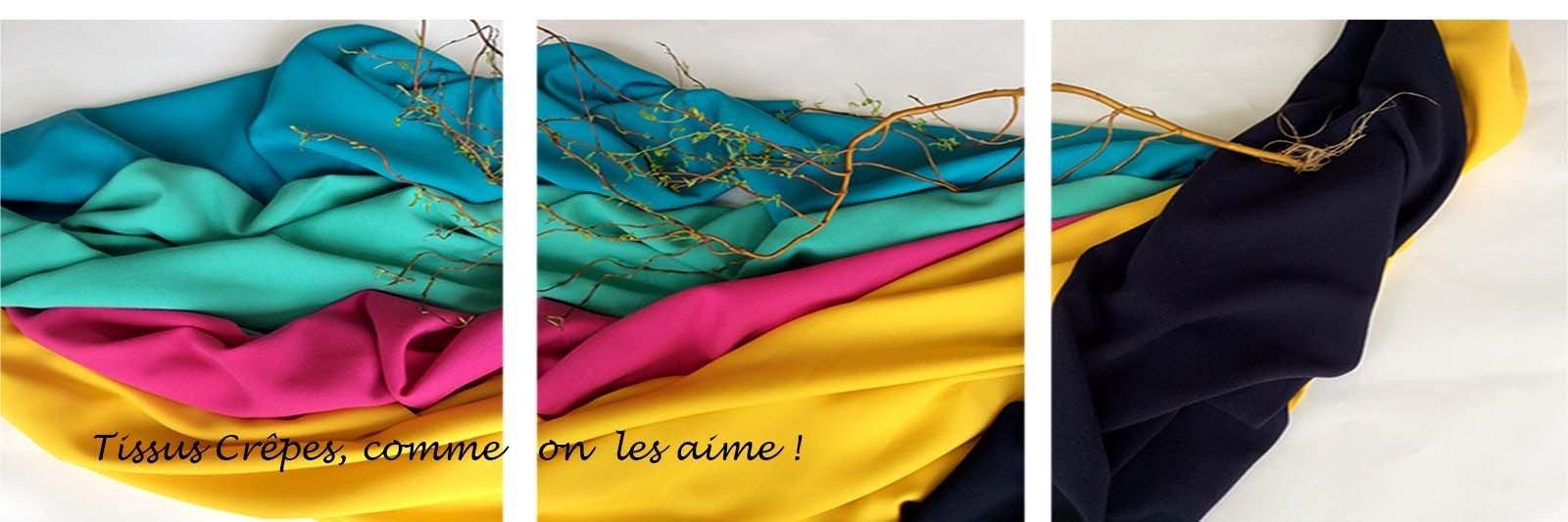 Tissu crepe tissu au metre crepe de laine