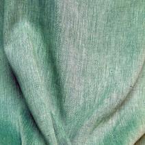 Bâche de tissu de lin vert chiné