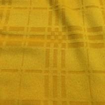 Cachemire Drap de laine jaune gaufré carreaux