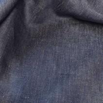 coupon tissu en lin effet jean