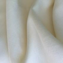 Tissu en lin blanc sergé diagonale