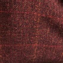 Coupon tweed bordeaux à carreau