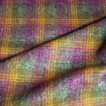 Coupon tissu écossais en laine vert