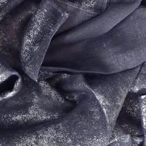 coupon tissu gris argenté