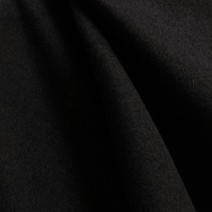 Tissu drap de laine caban noir