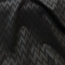 Drap de laine cachemire noir gaufré