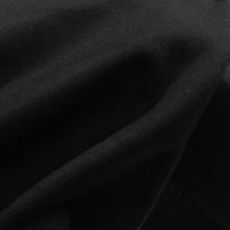 Drap de laine cachemire noir