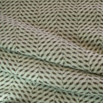 Drap de laine chevron beige