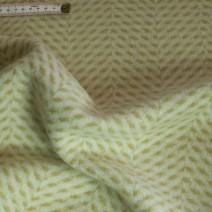 Drap de laine chevron blanc/jaune miel