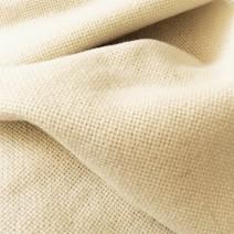 Drap de laine grosse toile blanc