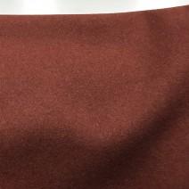drap de laine marron Terre de Sienne
