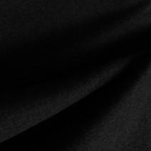 Tissu flanelle de laine peignée noir