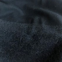 Flanelle laine noire rayure bayadère effet astrakan